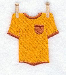 Clothesline - Shirt design (A3736) from www.Emblibrary.com