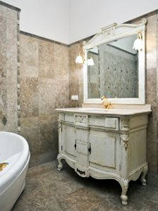 Pictures In Gallery  Stainless Steel Bathroom Vanity with Frosted Edge Mirror Gorgeous Absolutely Gorgeous