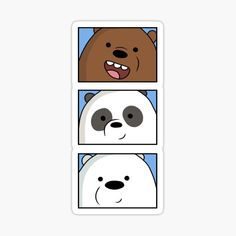 Preppy Stickers, Cute Laptop Stickers, Tumblr Stickers, Anime Stickers, We Bare Bears Wallpapers, Cute Wallpapers, Bear Wallpaper, Cartoon Wallpaper, Nail Art Dessin