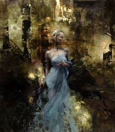 "Jeremy Mann - Artist ""Nadezda"" 51 x 45 inches Oil on Panel"