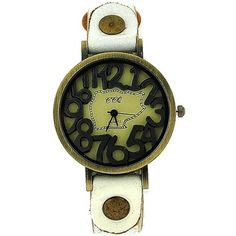 TOC Unisex Oxidised Metal Dancing Numbers White Strap Watch SW-775 Dancing, Numbers, Unisex, Watches, Metal, Shopping, Accessories, Dance, Clocks