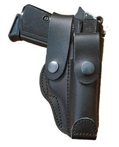 Toc din piele naturala de culoare neagra cu port sector pentru pistol Carpati, PPK- . Tocul se utilizeaza pe centura , partea dreapta. Produs in Romania.