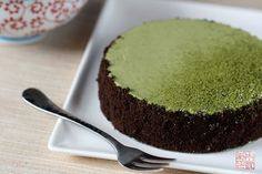 green tea cheesecake!