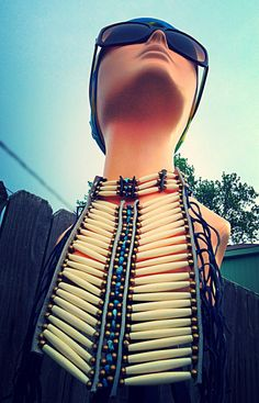 Vintage Native American Chestplate Necklace by HUEisit on Etsy