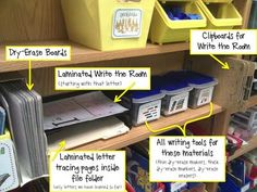Here are the different writing tools the students can choose from during Work on Writing