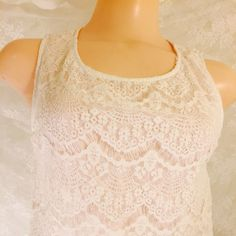 White dress Ark and Co White dress with lace, at this price you can spill a nice glass of wine all over it...and not worry about it. A beautiful dress, with a beautiful material. Ark & Co Dresses