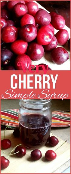 A super easy, very cherry simple syrup recipe using Northwestern Pacific cherries from Northwestern Grown Sweet Cherries! Black Cherry Recipes, Black Cherry Syrup, Cherry Pancake Syrup Recipe, Simple Syrup Recipe Drinks, Houston Food, Homemade Lemonade, Sweet Cherries, I Love Food, Super Easy
