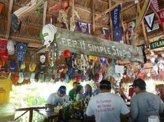 Soggy Peso Bar on the lagoon- cheap drinks, funny bartenders, great ribs on Sundays, and a pier going out to the lagoon