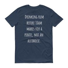 DRINKING RUM BEFORE 10AM... Unisex Cotton Tee (6 colors)