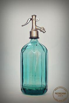 Vintage Seltzer Soda Siphon Bottle 1950s Pale by VintageMedreana, $54.00