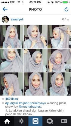 Anybody can whip this up in minutes.so good for mornings that you have overslept. Islamic Fashion, Muslim Fashion, Hijab Fashion, Hijabs, How To Wear Hijab, Hijab Style Tutorial, Head Scarf Styles, Turban Style, Hijab Chic