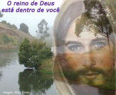 Imagem de Jesus com frase sobre o reino de Deus