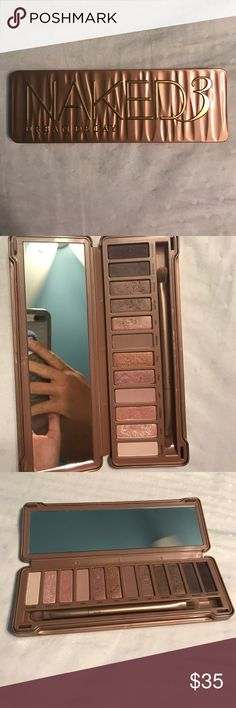 Naked 3 Pallet The brush has never been used! I have only used two colors in this pallet and I used a different eye shadow brush to do so. In almost perfect condition! Urban Decay Makeup Eyeshadow