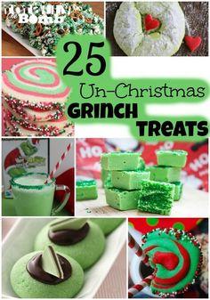 Un-Christmas Grinch Treats For Christmas.