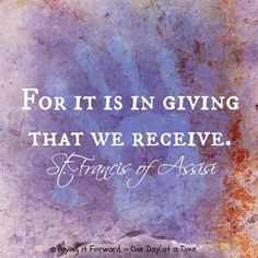 giving is the real gift.  quotes.  wisdom.  advice.  life lessons.