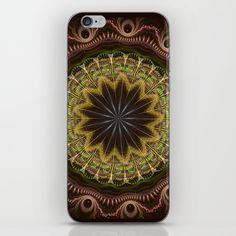 Groovy fractal mandala with tribal patterns iPhone & iPod Skin