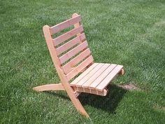Slat Chairs - campfire