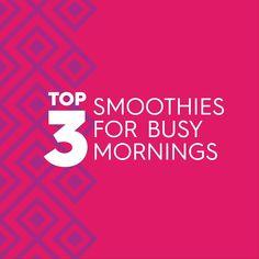 Busy morning? No problem. Try our avocado smoothies! Best Smoothie Recipes, Good Smoothies, Avocados From Mexico, Vanilla Greek Yogurt, Avocado Smoothie, Super Foods, Avocado Recipes, Breakfast Recipes, Recipe