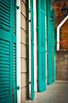 NOLA: French Quarter: Teal Shutters by smulligannn, via Flickr