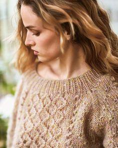 """1,241 gilla-markeringar, 12 kommentarer - Sandnes Garn (@sandnesgarn) på Instagram: """"Lett og lekker genser i Tynn Silk Mohair! // Light and gorgeous sweater in thin Silk Mohair!"""""""