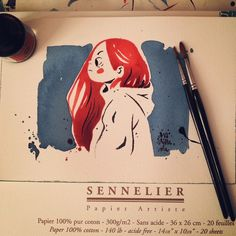 I love my new watercolor Paper  #ink #inktober #inktober2014 #inktober2go…