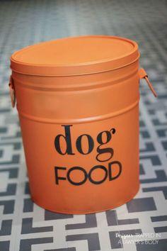 DIY Dog Food Storage (from An Old Popcorn Tin)!