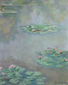 "goodreadss:  ""claude monet water lilies painting  """