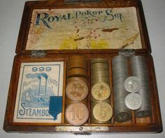 Royal Poker Set C/JS162  A Royal Poker Set like this one was said to have been used by Wyatt Earp.