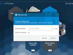 modal window design for an Windows 8 video surveillance application