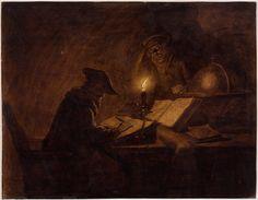 Michiel Versteegh – Scholars in their study, przełom XVIII i XIX w