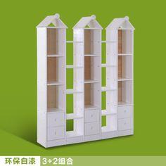 实木儿童书架展示柜 自由组合书柜 松木阳台储物柜带抽屉置物架-tmall.com天猫