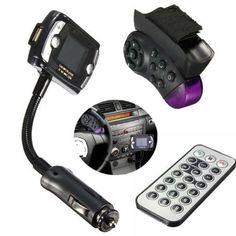 Car Kits Wireless Bluetooth FM Transmitter MP3 Player USB LCD Remote Handfree