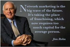 Love Jim Rohn... I was honored to be at one of his last live events! - Jim Rohn on Network Marketing Discover how you can become a new home based business owner with support at http://www.CreateACashFlowShow.com