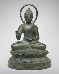 Seated Transcendent Buddha Vairochana, Central Javanese period, ca. late 9th century  Indonesia, Java  Bronze; H. 7 5/8 in. (19.4 cm)  Samuel Eilenberg Collection