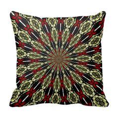 #Red and #Gold #StainedGlass Window #Kaleidoscope Throw Pillow...#pillows #homedecor #throwpillows  #interiordecorating #interiordecoration  #interiordesign #livingroom #bedroom #den  #RoseSantuciSofranko #Artists4God  #Artist4God   #home   #accessories #decor #lumbarpillows #custom   #customizable #Zazzle #hearts #WeddingGifts   #AnniversaryGifts #StValentinesDay