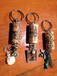 Cool Wine Bottles Craft Ideas - key chains.