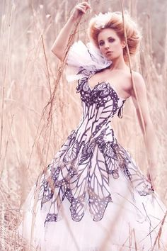 Butterfly Corsets/dresses by Bibian Blue