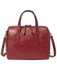 Fossil Handbag, Sydney Leather Satchel