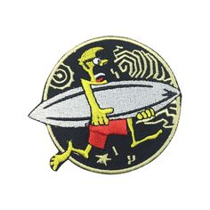 Surfing Patch Embroidered Iron on Patch Punk Patches Sport Patch