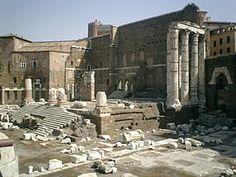 Forum d'Auguste avec le Temple de Mars vengeur - fin 1er siècle avant JC -  sous le règne de l'Empereur Auguste