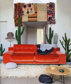velvet orange couch of my dreams