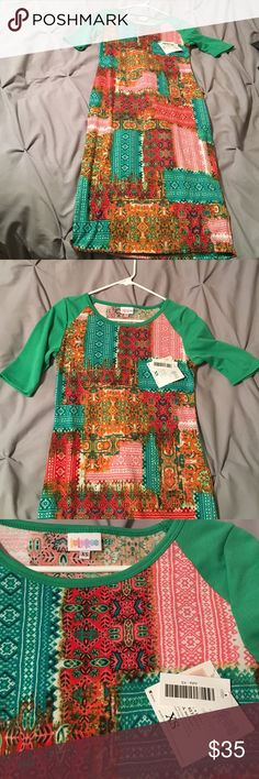 Lularue XS Julia dress Lularue Julia dress size XS .. brand new with tags LuLaRoe Dresses Midi