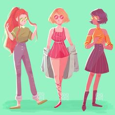 Fashion Week Icons by soyochii on DeviantArt Cartoon Tv, Cartoon Shows, Cartoon Drawings, Cartoon Network, Character Art, Character Design, Fanart, Nickelodeon, Totally Spies