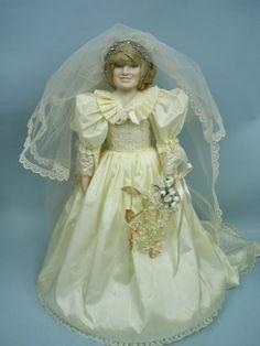 Princess Diana & Prince Charles Wedding Doll Set Danbury Mint + ...