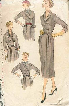 Vintage 1950's Misses' Dress Pattern by CottageLaneTreasures, $15.00