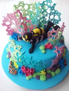 Scuba Diver Cake  Cake by Cherry's Cupcakes