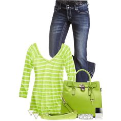 """""""Lime Green Casual"""" by kswirsding on Polyvore"""