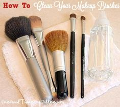 How to clean your makeup brushes....and how often!