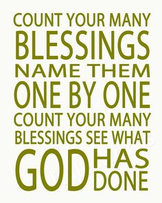 Count Your Blessings -hymn lyrics - digital printable word art. $5.00, via Etsy.