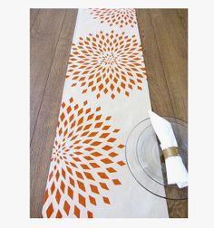 Radiant Roses Table Runner Burnt Orange / White By Celineandkate, $42.00    Decoration   Pinterest   Burnt Orange And Rose